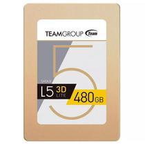 """SSD 480GB L5 LITE 3D para PC e Notebook Sata III 2,5"""" Team Group T253TD480G3C101 -"""