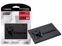 SSD Kingston A400, 240GB, SATA, Leitura 500MB/s, Gravação 350MB/s - SA400S37/240G -