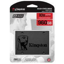 "SSD Kingston A400 960GB SATA 3 III 2,5"" 7mm para PC e Notebook SA400S37/960G -"