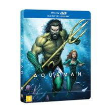 SteelBook Blu-Ray + Blu-Ray 3D - Aquaman - Warner bros.