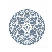 Stencil de Acetato para Pintura OPA Simples 20 x 25 cm - 2460 Mandala Flor Redonda -