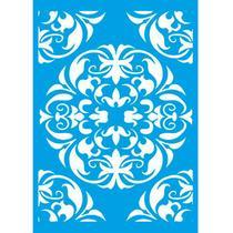 Stencil de Parede Wall Litoarte 32 x 42,2 cm - STW-027 Ornamento Mandala -