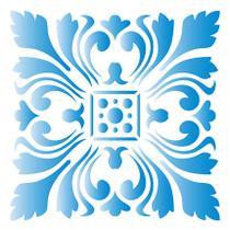 Stencil Especial Pintura Azulejo Imperial 10X10 STX-314 - Litoarte -