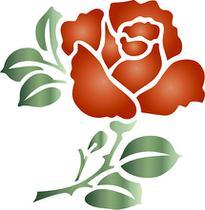 Stencil Especial Pintura Flor 10X10 STX-031 - Litoarte -