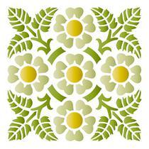 Stencil Especial Pintura Flores 10X10 STX-272 - Litoarte -