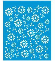 Stencil Especial Pintura Flores 21,1x17,2 Stm-022 - Litoarte -