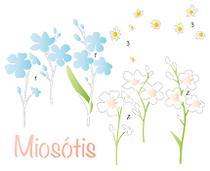 Stencil Especial Pintura Flores Miosótis 21,1X17,2 STM-625 - Litoarte -