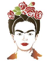 Stencil Especial Pintura Frida 21,1X17,2 STM-572 - Litoarte -