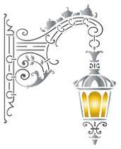 Stencil Especial Pintura Luminária Parede Pendente 21,1X17,2 STM-589 - Litoarte -