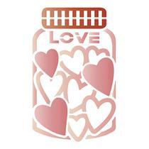 Stencil Especial Pintura Pote Love 10X10 STX-350 - Litoarte -