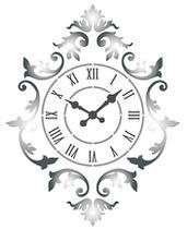 Stencil Especial Pintura Relógio Ornamentado 21,1X17,2 STM-594 - Litoarte -