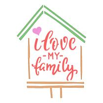 Stencil Especial Selo I Love My Family 10X10 STX-340 - Litoarte -