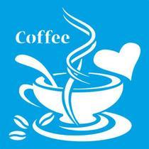 Stencil Litoarte  10 x 10 cm - ST-X-234 Café -
