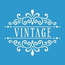 Stencil Litoarte  10 x 10 cm - ST-X-329 Selo Vintage -