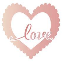 Stencil Litoarte 10x10 STX-351 Coração Love -