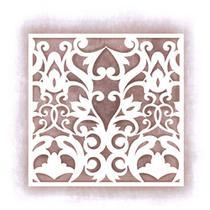 Stencil Litoarte 14x14 STA-011 Azulejo Arabescos -