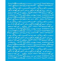 Stencil Litoarte  17 x 21 cm - STME-002 Texto Manuscrito -