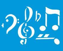 Stencil Litoarte 21,1x17,2 STM-007 Notas Musicais -