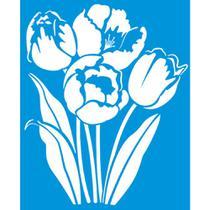 Stencil Litoarte 21,1x17,2 STM-300 Flores -