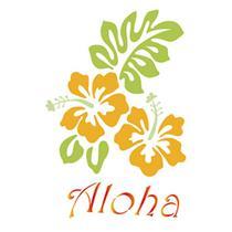 Stencil Litoarte 34,4x21 ST-233 Hibisco e Aloha -