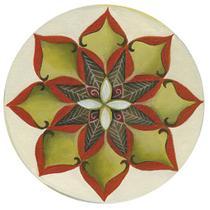 Stencil Litoarte 34,4x21 ST-287 Mandala Flor Margarida -