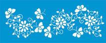 Stencil Litoarte 42x17 STG-027 Flores -