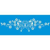 Stencil Litoarte 42x17 STG1-007 Borboleta -
