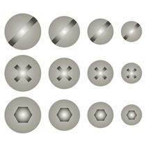 Stencil Litoarte 8,4x28,5 STE-328 Cabeça de Parafuso -