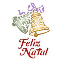 Stencil Litoarte Natal 17,2x21,1 STMN-062 Sino e Feliz Natal -
