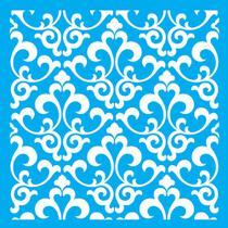 Stencil Litocart 20x20 LSQ-090 Estampa Azulejo -