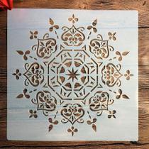 Stencil Mandala Top Decore Parede Madeira Piso 30x30cm - Submoda Stencil