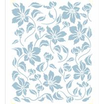 Stencil OPA 20x25 2853 Estamparia Flores do Campo II -