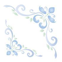 Stencil Para Pintura Simples STA-092 Cantoneira Ornamento 14x14cm - Litoarte -