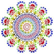 Stencil Pintura Especial Mandala 30X30 STQG-013 - Litoarte -