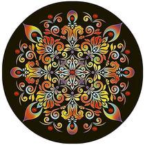 Stencil Pintura Especial Mandala Arabesco 30X30 STQG-009 - Litoarte -