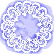 Stencil Pintura Simples 20x20cm Mandala de Corações STXX-099 - Litoarte -