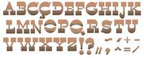 Stencil Pintura Simples Alfabeto e Simbolo 42X17 STG-055 - Litoarte -