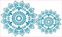 Stencil Pintura Simples Mandalas Renda 34,4x21cm ST-307 - Litoarte -
