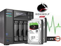 Storage NAS Asustor INTEL Quad Core J3160 1,6GHZ 4GB DDR3 Torre 32TB com Disco AS6204T32000 -