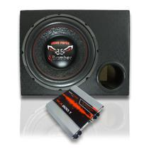 "Subwoofer Bomber Bicho 12"" + Caixa Mdf Dutada 4""+ Modulo 800 - Extreme Box"