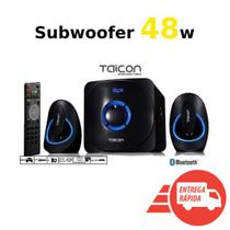 Subwoofer Taicon 48w 2.1 Bluetooth Pc Tablet Note Ps3 Xbox Bivolt -