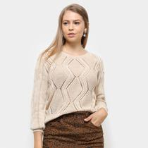 Suéter Fast Glam Cropped Tricot Feminino -