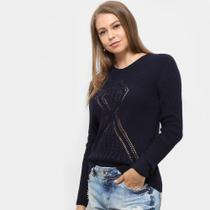 Suéter Fast Glam Tricot Desenhado Feminino -