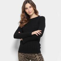 Suéter Tricot Facinelli Maquinetado Feminino -