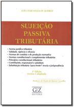 Sujeição Passiva Tributária - 03ED/17 - Gz editora