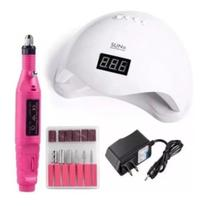 Sun 5 Led Uv Cabine Estufa + Lixadeira Elétrica Kit Manicure - NeyImports