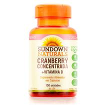 Sundown cranberry concentrado 8400 mg+ vitamina d1000 iu c/150 capsulas softgels -