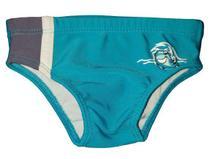 Sunga bebe menino com proteção solar azul royal tubarão - marca Tip Top -