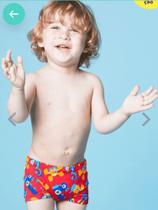 Sunga Boxer Baby Monsters Puket - Proteção Spf 50 Uv - Tamanho 9 a 12 Meses -