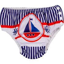 Sunga para Bebê Comtac - com Absorvente Interno - Marítimo -
